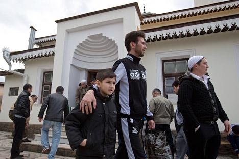 El presidente Putin acaba de decretar la rehabilitación de este pueblo musulmán residente desde hace siglos en la península. Fuente: AP