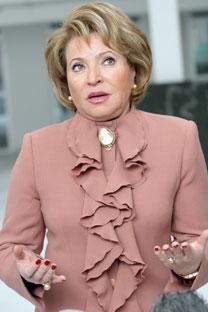 Valentina Matvienko, presidenta del Senado ruso. Fuente: ITAR-TASS