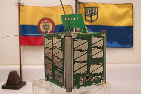 """""""Libertad 1"""", el primer satélite colombiano. Fuente: Picosatélites"""