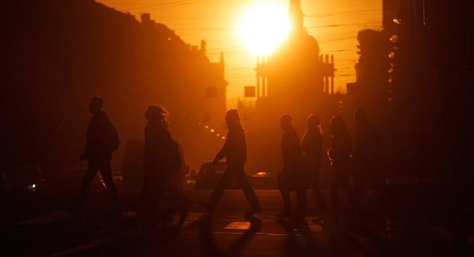 Las temperaturas primaverales fueron más altas de lo habitual en San Petersburgo. Fuente: AP