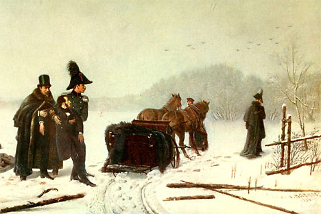 Duelo entre Alexander Pushkin y Georges d'Anthès. A. Naúmov. 1884.
