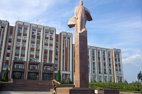Estatua de Lenin en Tiraspol (Transnistria)