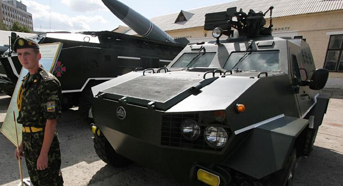 No Brasil, o lado ucraniano mantém desde 2011 conversações para fornecer veículos blindados de transporte de pessoal Dozor-B Foto: ITAR-TASS