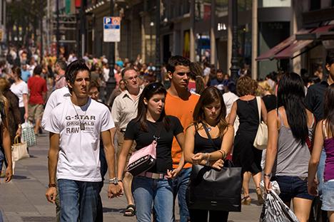 Actualmente hay cerca de 65.000 empadronados, y hace 20 años apenas llegaban al millar. Fuente: alamy / legion media