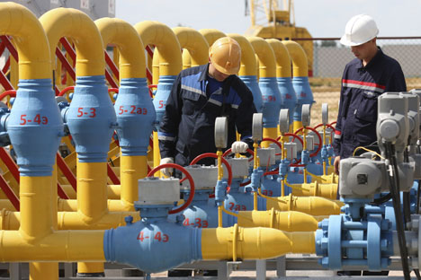 Kiev pretende  involucrar a Europa y EE UU en la gestión del sistema de transporte de gas . Fuente: Iván Rudnev / RIA Novosti