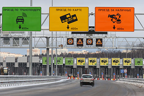 Las inversiones francesas e italianas participan en la construcción de la nueva carretera que unirá Moscú y San Petersburgo. Fuente: ITAR-TASS