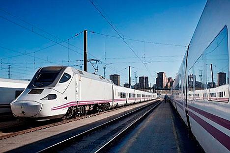 El tren español unirá Moscú con Berlín a través de Minsk. El agravamiento de la situación ha provocado el cambio de la ruta original, a través de Kiev. Fuente: servicio de prensa