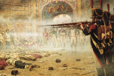 La mayor medida de castigo fue suprimida en Rusia por primera vez hace 270 años, aunque se retomó  y actualmente sigue siendo una cuestión controvertida. Fuente: Vladímir Viatkin / Ria Novosti