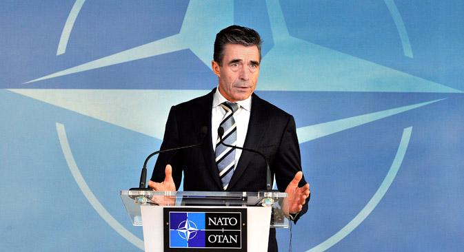 El secretario general de la OTAN, Anders Fogh Rasmussen. Fuente: AFP / East News