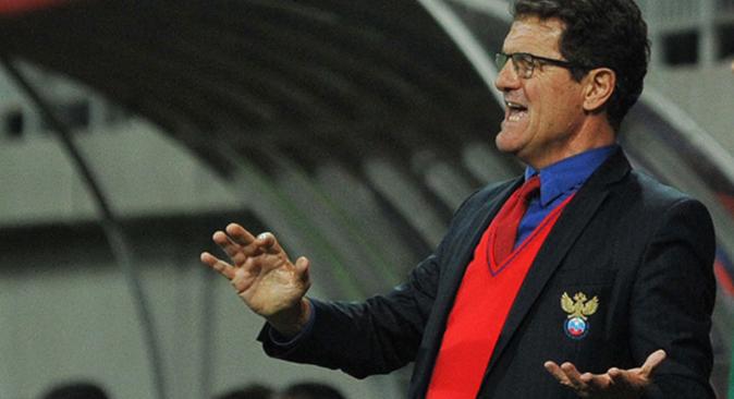 Espera poder superar la fase de grupos de mano del entrenador italiano. Fuente: ITAR-TASS
