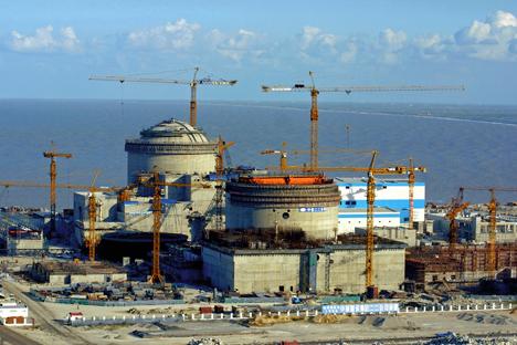La compañía Rosatom realiza la contrucción de la central nuclear de Tianwan en China. Fuente: Ria Novosti