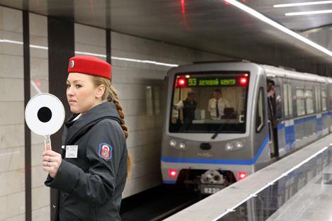 Cerca de 8 milhões de pessoas usam o metrô de Moscou diariamente Foto: TASS
