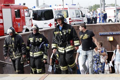 Serguêi Sobiánin, declarou que muito tem sido feito no metrô da capital russa nos últimos anos, incluindo a modernização dos trens, mas o acidente do dia 15 de julho anulou essas conquistas Foto: ITAR-TASS