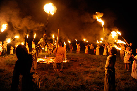 Es una de las celebraciones más coloridas de Rusia y hunde sus raíces en el pasado pagano del país. Fuente: Mijaíl Mordásov