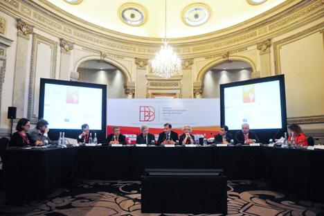 Momento de la conferencia celebrado en Montevideo el pasado 14 de julio. Fuente: Diego Battiste