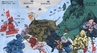 Primera Guerra Mundial y mapas alegóricos de Europa