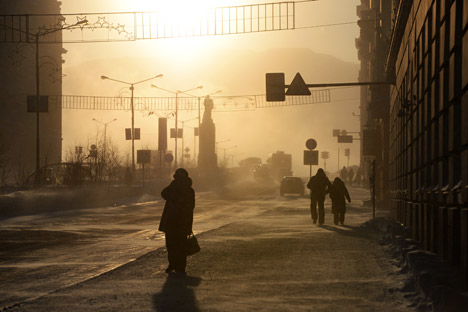 Las condiciones de vida en esta ciudad del norte de Rusia son extremas, y se pueden establecer analogías con el Planeta Rojo. Fuente: Aleksandr Kriázhev / Ria Novosti