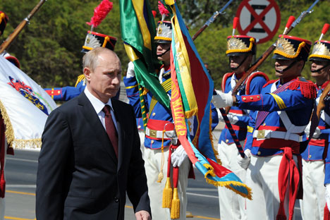 La visita a la región de los mandatarios de los tres países a lo largo del último mes es una muestra de la creciente importancia de la región a nivel internacional. Fuente: Mijaíl Kleméntiev / Ria Novosti
