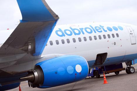Dobrolet, filial de Aeroflot, comenzó a volar en junio a Crimea. Los proveedores europeos han cancelado los acuerdos. Fuente: ITAR-TASS