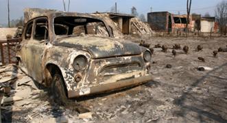Graves incendios en Rusia