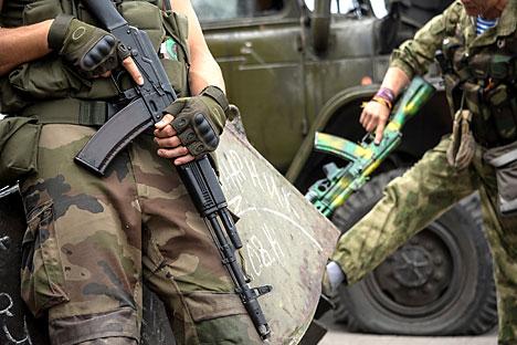 Un periodista ruso viaja al sudeste del país  junto con los milicianos. Fuente: AP
