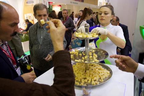 En la World Food 2014 se presentaron productos procedentes de Río Negro, San Juan, Córdoba y Entre Ríos. Fuente: AP