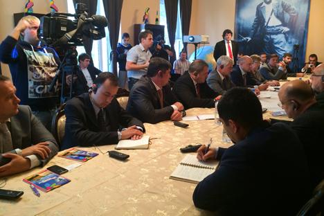 La embajada del país centroamericano acogió el acto de presentación. Fuente: Anastasía Yúdina