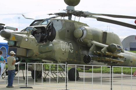 """Os helicópteros de ataque Mi-28NE """"Night Hunter"""" foram encomendados pelo Iraque em 2012 Foto: ITAR-TASS"""
