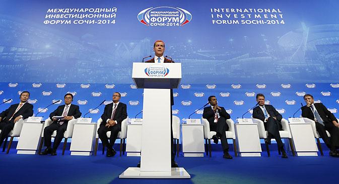 Medvédev da instrucciones al respecto a los responsables del comercio exterior. Fuente: ITAR-TASS