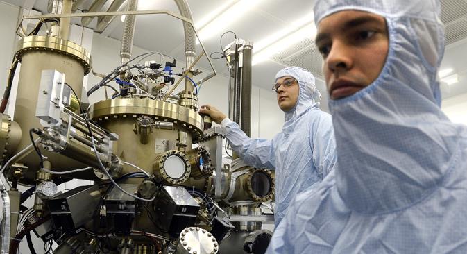Los estudiantes de la Universidad Nacional de Ciencia y Tecnología MISIS. Fuente: ITAR-TASS