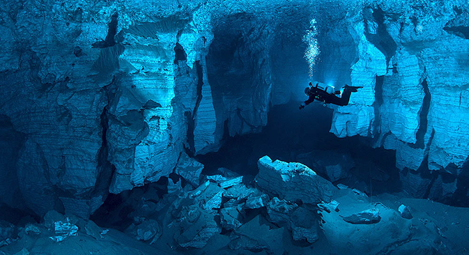 Espectaculares maravillas bajo tierra. Fuente: http://ordacave.ru
