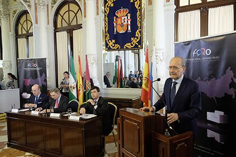 Momento de presentación del evento en el Ayuntamiento de Málaga. Fuente: FIHR.