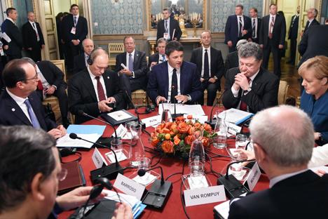 Asisten a la cumbre Asia-Europa y se reúnen con mandatarios de los dos continentes. Fuente: Reuters