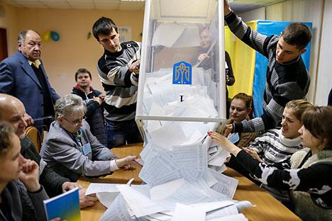 Las elecciones parlamentarias ucrania han Ucrania han dado la victoria a los partidos partidarios de un acercamiento a la UE. Fuente: Reuters.
