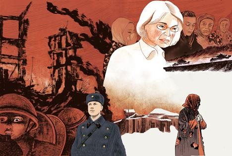 """Ilustración para la cubierta de """"Cuaderno ruso"""" Fuente: Igort."""