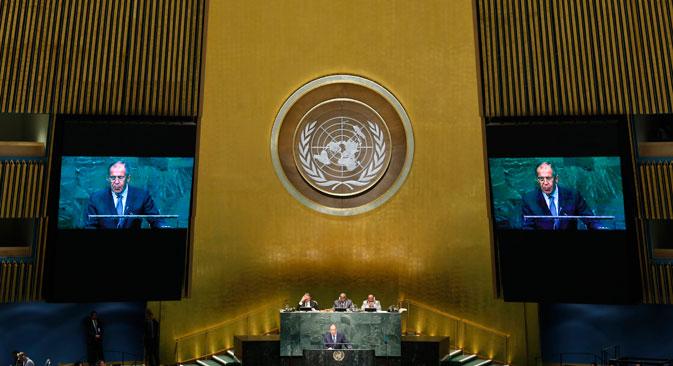 Lavrov encabezó la delegación rusa en la Asamblea General. Fuente: Reuters
