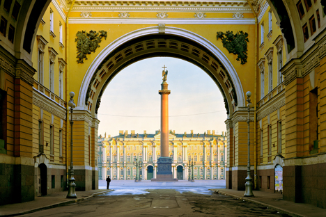 Vista al Palacio de Invierno, sede del Hermitage en San Petersburgo. Fuente: Corbis/All Over Press