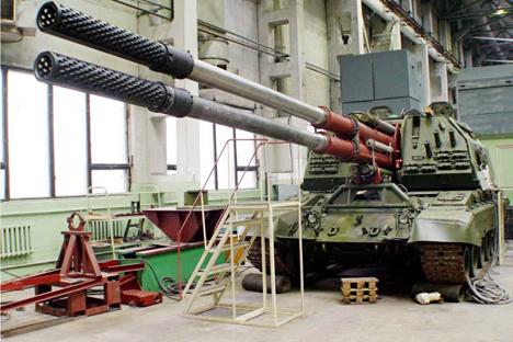 El nuevo obús se encuentra en una avanzada fase de pruebas. Podrá alcanzar objetivos situados a 70 kilómetros. Fuente: bastion-karpenko.ru