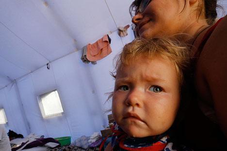 Desde el inicio de la violencia cientos de miles de personas se han desplazado a Rusia. Fuente: Reuters