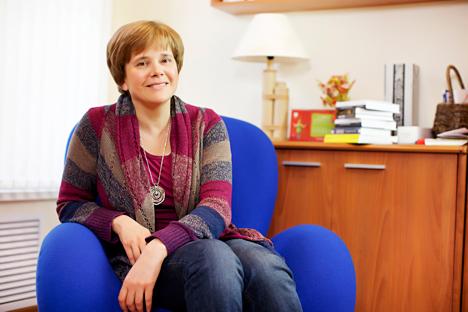 La editora Irina Prójorova habla sobre los objetivos y perspectivas de su actividad para el restablecimiento de la cultura del libro en Rusia. Fuente: Fotolmedia