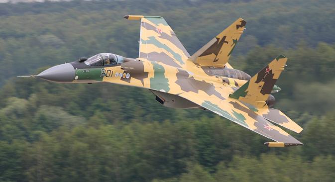 El caza polivalente Su-35. Fuente: sukhoi.org