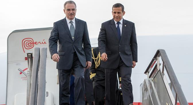 El presidente peruano realiza una visita oficial de cuatro días al país eslavo, invitado por Vladímir Putin. Fuente: Ria Novosti / Aleksandr Vilf