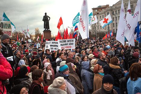 La movilización del pasado domingo en Moscú en contra de la reestructuración de los centros de salud es la mayor de los últimos años. Fuente: PhotoXpress