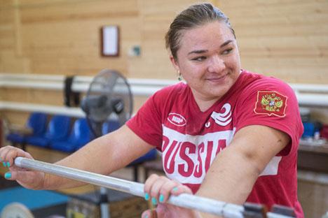 La rusa es campeona de halterofilia y cuenta con varios récords del mundo. Fuente: Ria Novosti