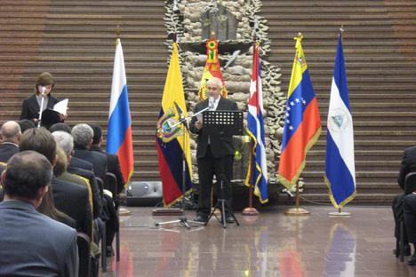 Emilio Lozada, el embajador de Cuba en Rusia. Fuente: Andréi Raskin