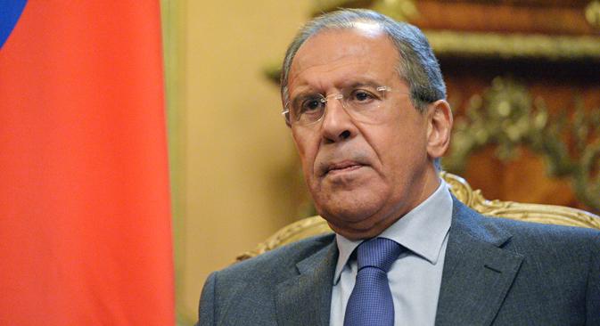 El ministro de Asuntos Exteriores Serguéi Lavrov. Fuente: Vladímir Pesnya/RIA Novosti.