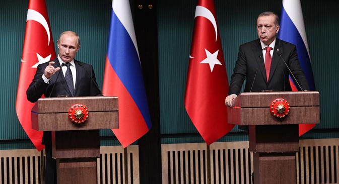 Putin y Erdoğan acuerdan una alternativa al gasoducto South Stream. Fuente: Konstantín Zavrazhin / RG