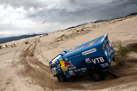 Russos lideram categoria de caminhões em corrida na América Latina  Foto: AFP/East News