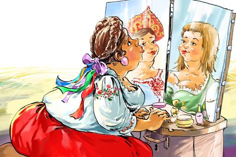 Dibujado por Tatiana Perelíguina