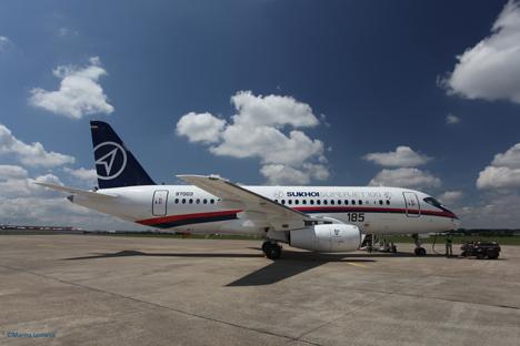La aerolínea mexicana aumentará la cantidad de aeronaves rusas y tendrá un total de 30. Fuente: sukhoi.org